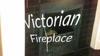 Victorian Fireplace Insert Coal Wood Burning Stove Original Antique