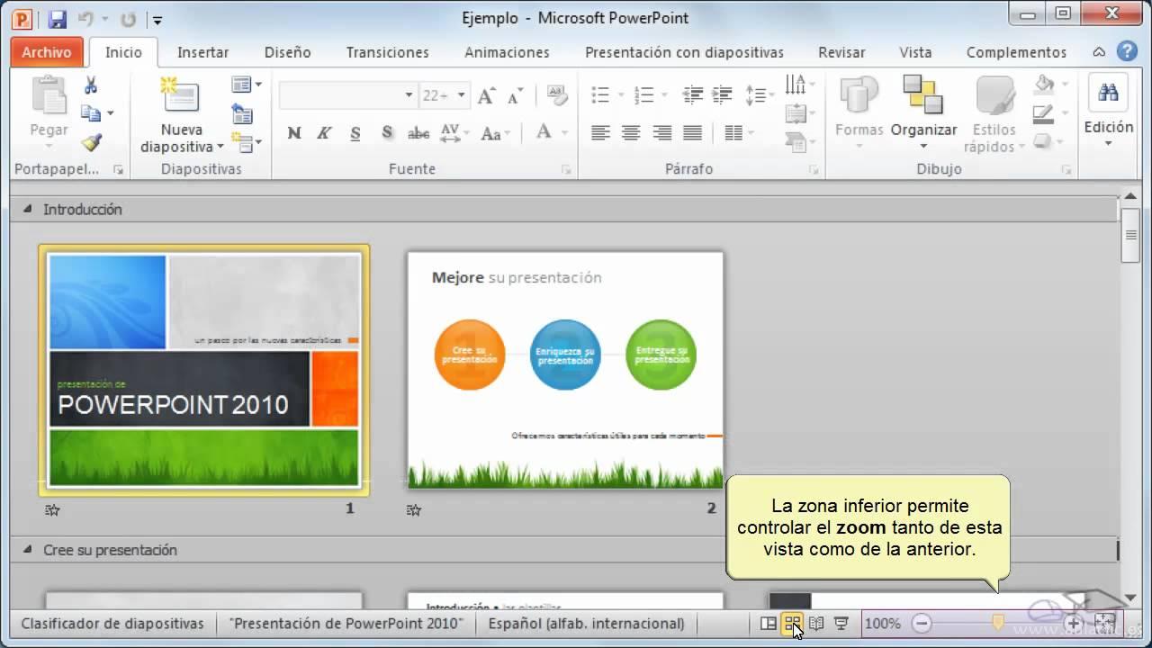 curso de powerpoint 2010  2  las diferentes vistas de