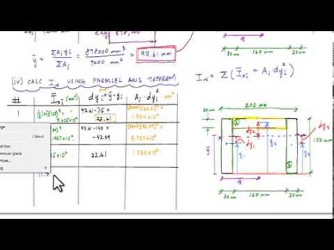 Geometric properties of a channel section (part 2/2: moment of inertia) -  Structure Free