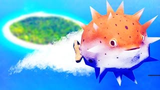 LVL 1000 PUFFER FISH GOES TO SPACE! - Feed and Grow Fish