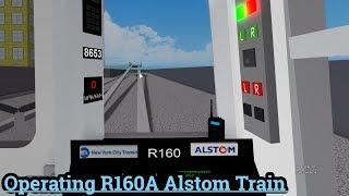ROBLOX- Operating a R160 (A) Train + Train Derailment