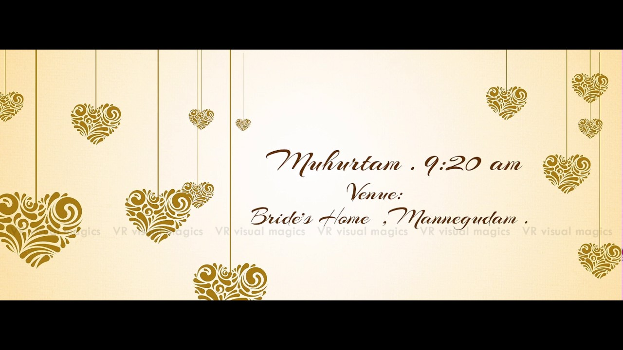 South Indian Telugu Wedding Invitation Video - Save The Date Video ...