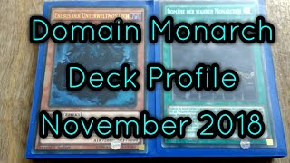 Domain Monarch Deck Profile Yugioh! NOVEMBER 2018 BudgetDecks!