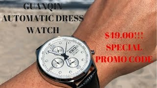 Guanqin GJ16100 Automatic Dress Watch - Only $49!!!