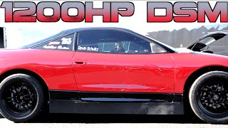 1200HP DSM sets 4 cyl 1/2 mile WORLD RECORD - Boostin Performance