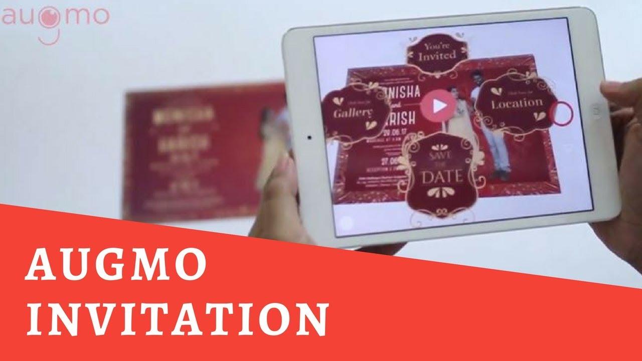 Augmented Reality(AR) Wedding Invitation | Augmo - YouTube