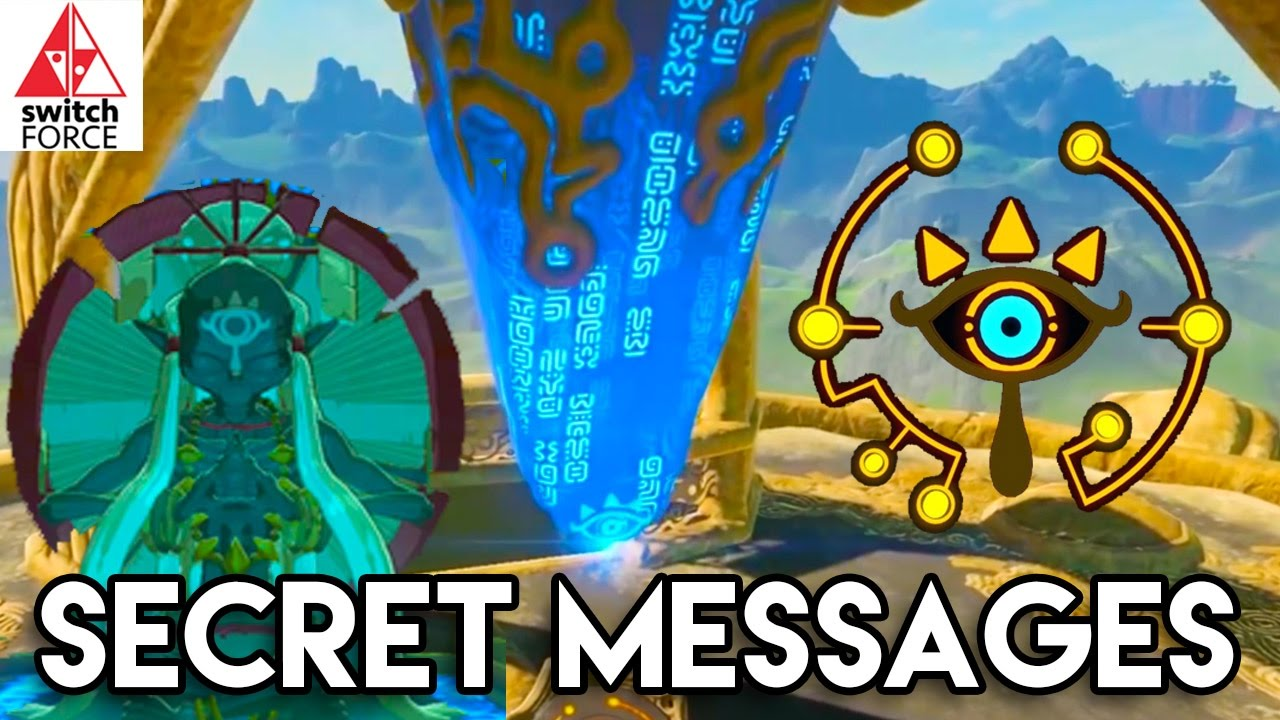 Zelda Breath of the Wild Secret Messages! - Sheikah Text