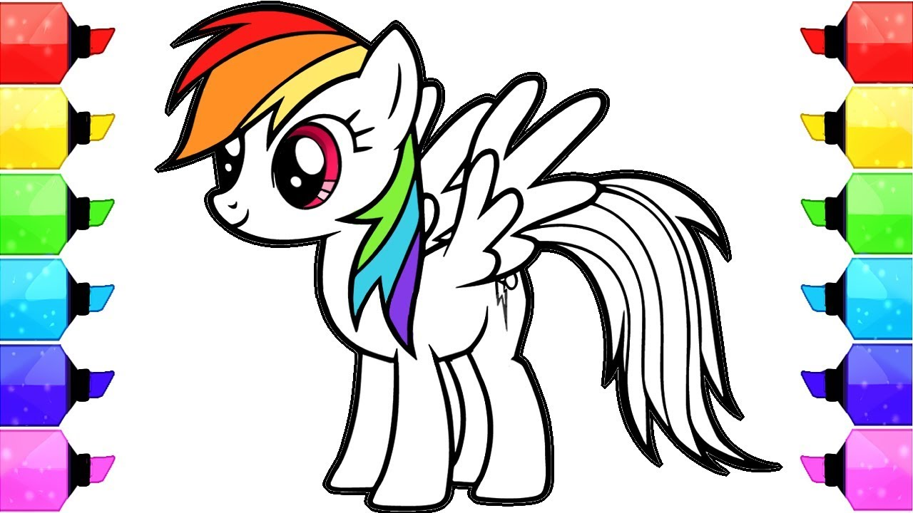 It is a graphic of Lucrative Pony Coloring Picture