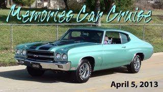 Hot Rods and Classic Cars - Memories Car Club Cruise Part 3 - Sunset Hills MO April 5, 2013