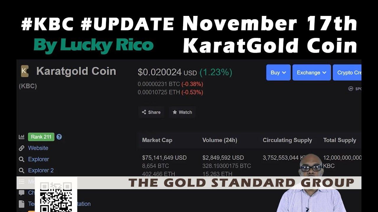#KaratGold #KBC Important Update Regarding BaFin #LuckyRico