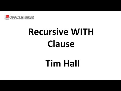 Recursive Subquery Factoring : Hierarchical Queries Using Recursive ...