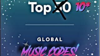 Top 10 Spotify Global Music Codes! (ROBLOX)