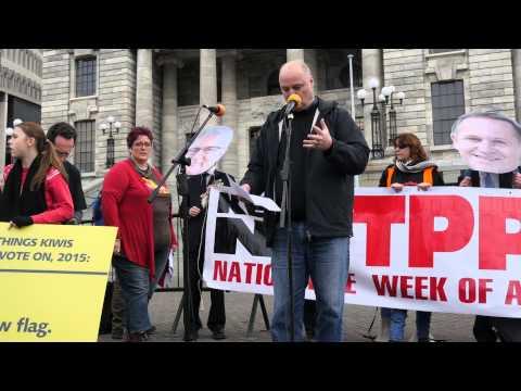 Todd Rippon Equity New Zealand Anti-TPPA Speech 15 Aug 2015 Wellington.