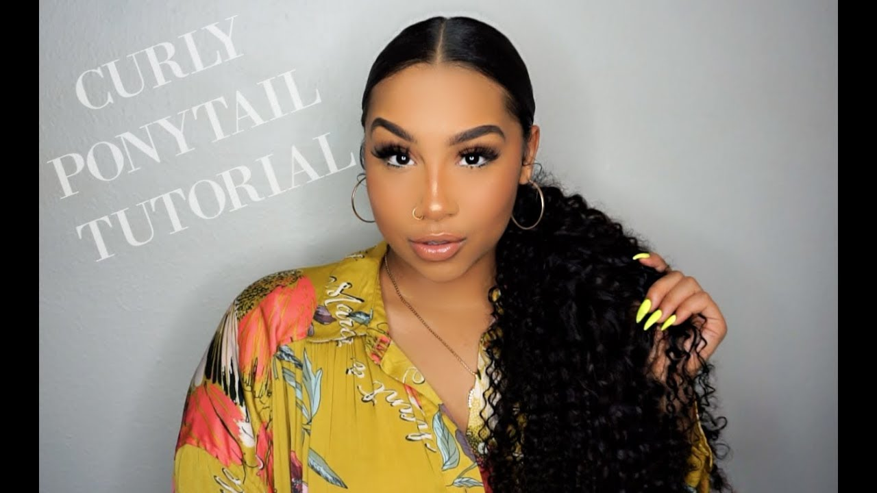 EASY CURLY PONYTAIL TUTORIAL | TheAnayal20ter