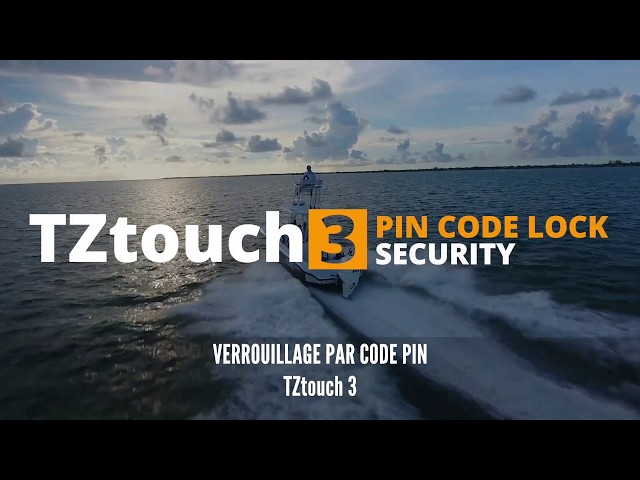 Insertion & Gestion des Waypoints, Verrouillage par code PIN | Furuno TZtouch 3 vs Concurrents