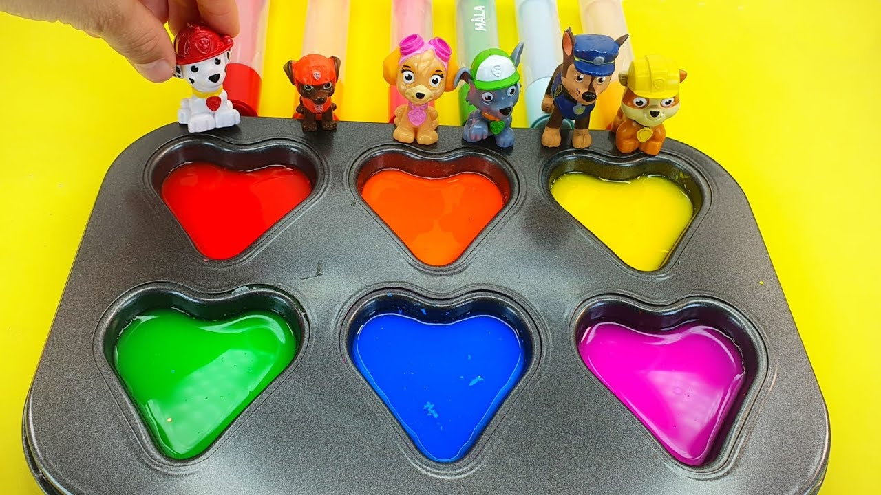 Satisfying Video l How To Make Rainbow M&M Candy with with paw patrol surprises Cutting ASMR #3 Duby