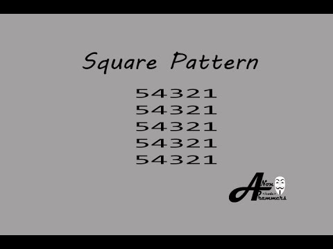 Square Pattern C++#12