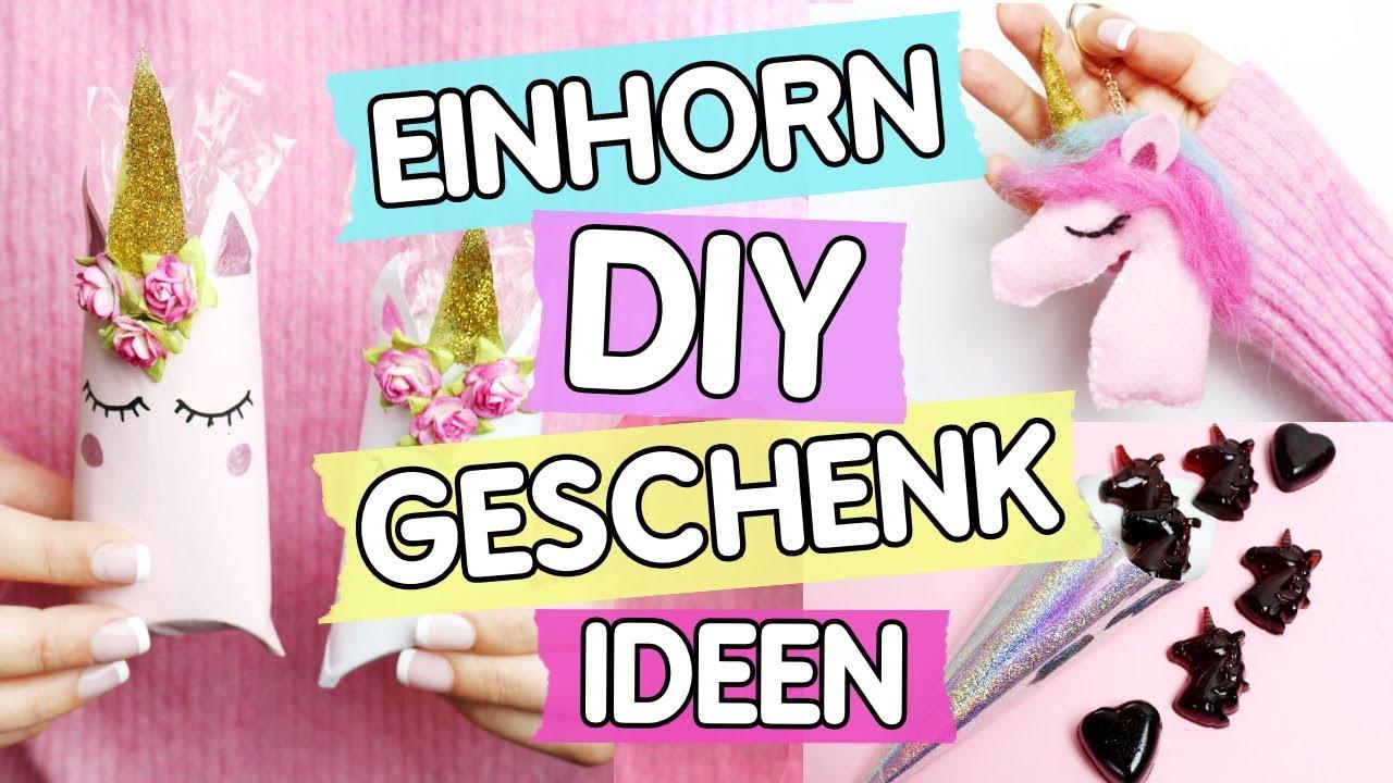 427f05a3bb1df4 DIY Einhorn 🦄 Geschenke: Einhorn Boxen, Schlüsselanhänger & Gummibärchen  selber machen!