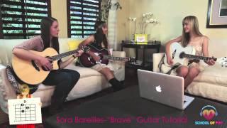 """Brave"" Sara Bareilles Guitar Tutorial // School Of Pop"