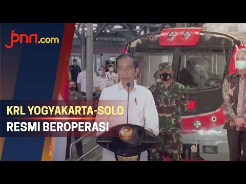 Jokowi Resmikan KRL Yogyakarta-Solo, Angkutan Massal Ramah Lingkungan