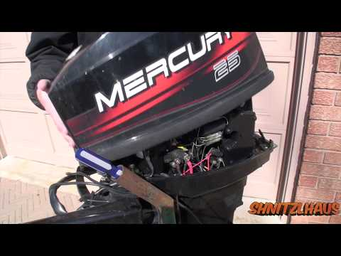 2 stroke mercury 25hp Carburetor Removal