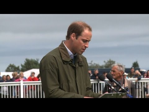 Prince William at show on Welsh island of Anglesey