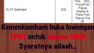 Download Video SYARAT PENDAFTARAN CPNS 2018 KEMENKUMHAM UNTUK LULUSAN SMA dari SSCN.BKN.GO.ID MP3 3GP MP4