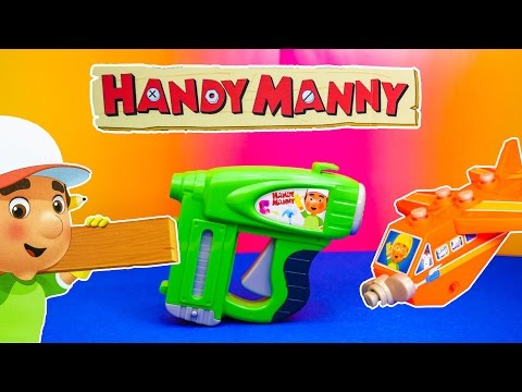 HANDY MANNY Disney Handy Manny Nail Gun and Jet Plane a Handy Manny Video Toy Review