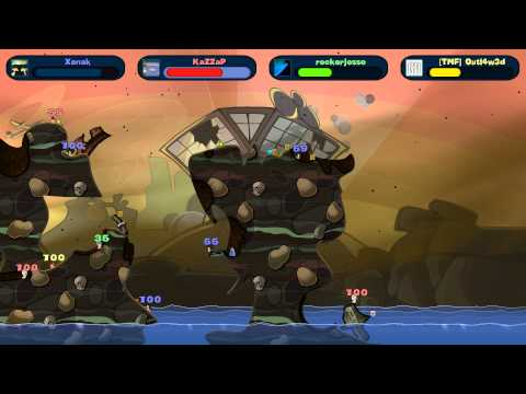 Worms Reloaded - HILARIOUS 4 Way Free For All