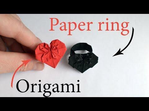 Beautiful Paper RING | Easy Origami Jewelry Tutorial DIY