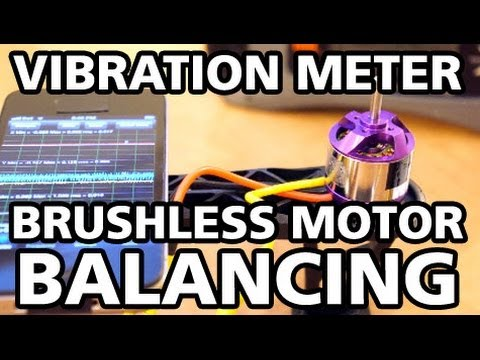 In depth video how to balance brushless motors using a vibration meter and  tape - Ontaerial