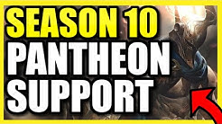 (ONE W = ONE KILL) *THIS* IS HOW YOU PLAY PANTHEON SUPPORT PERFECTLY IN SEASON 10! PANTH S10 BUILD