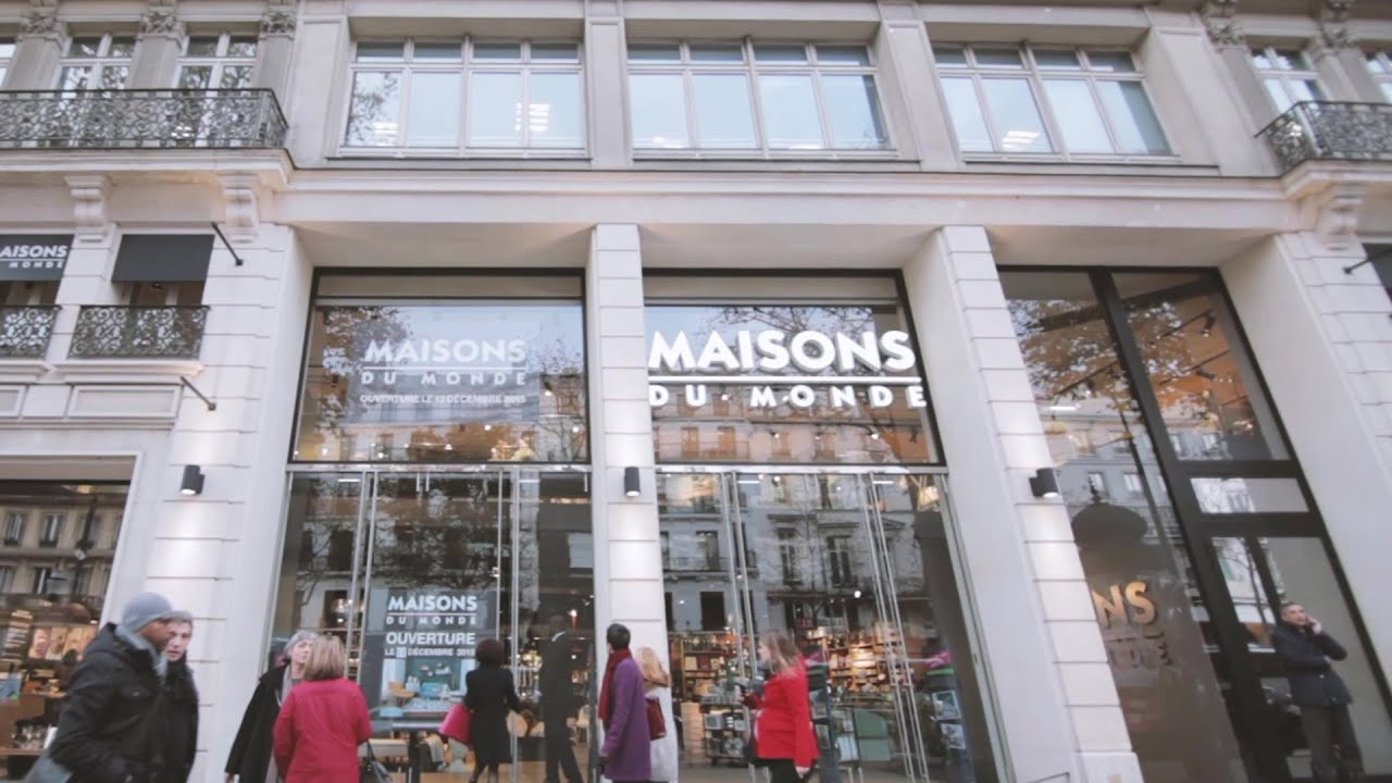 maisons du monde inauguration flagship montmartre 676 youtube. Black Bedroom Furniture Sets. Home Design Ideas
