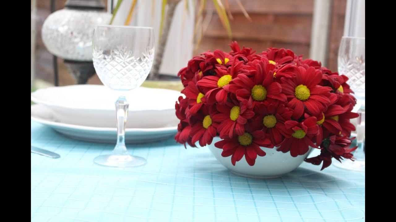 cmo hacer un centro de flores sencillo para decorar una mesa youtube