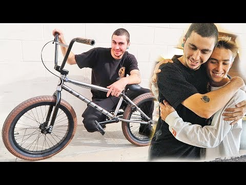 SURPRISED COUSIN WITH DREAM BMX BIKE! #heartwarming