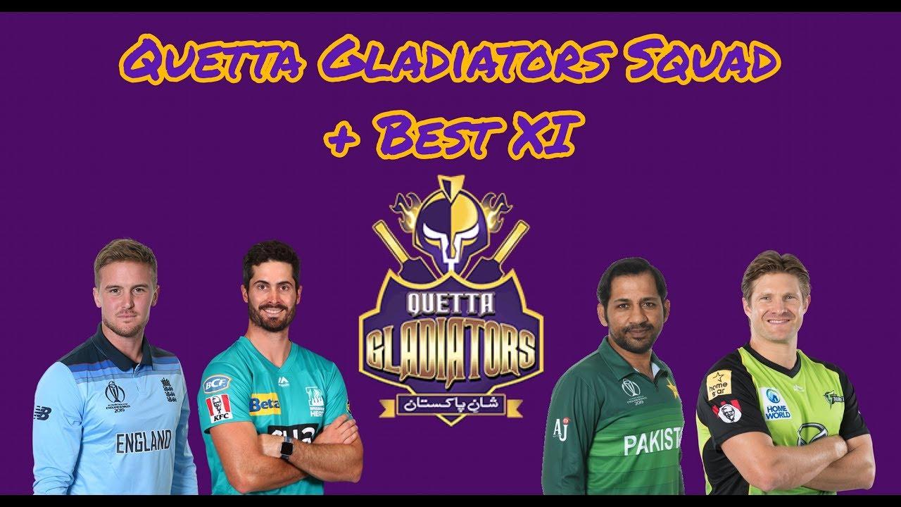 Quetta Gladiators | PSL5 Squad + Best XI | HBLPSLFANS