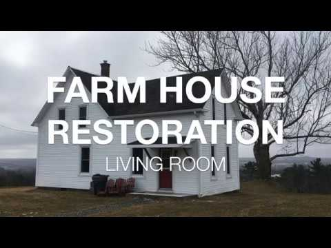 Farm House Restoration 300 Living Room Reno Ep1 Youtube