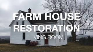 Farm House Restoration | $300 Living Room Reno | Ep.1 |
