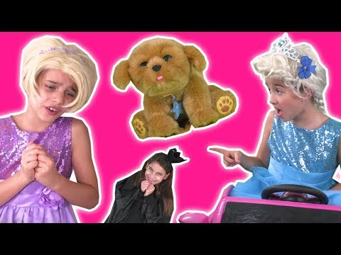 WE GOT A PUPPY! 🐶 Christmas Shopping Pranks Pink Ride On Car - Princesses In Real Life | Kiddyzuzaa