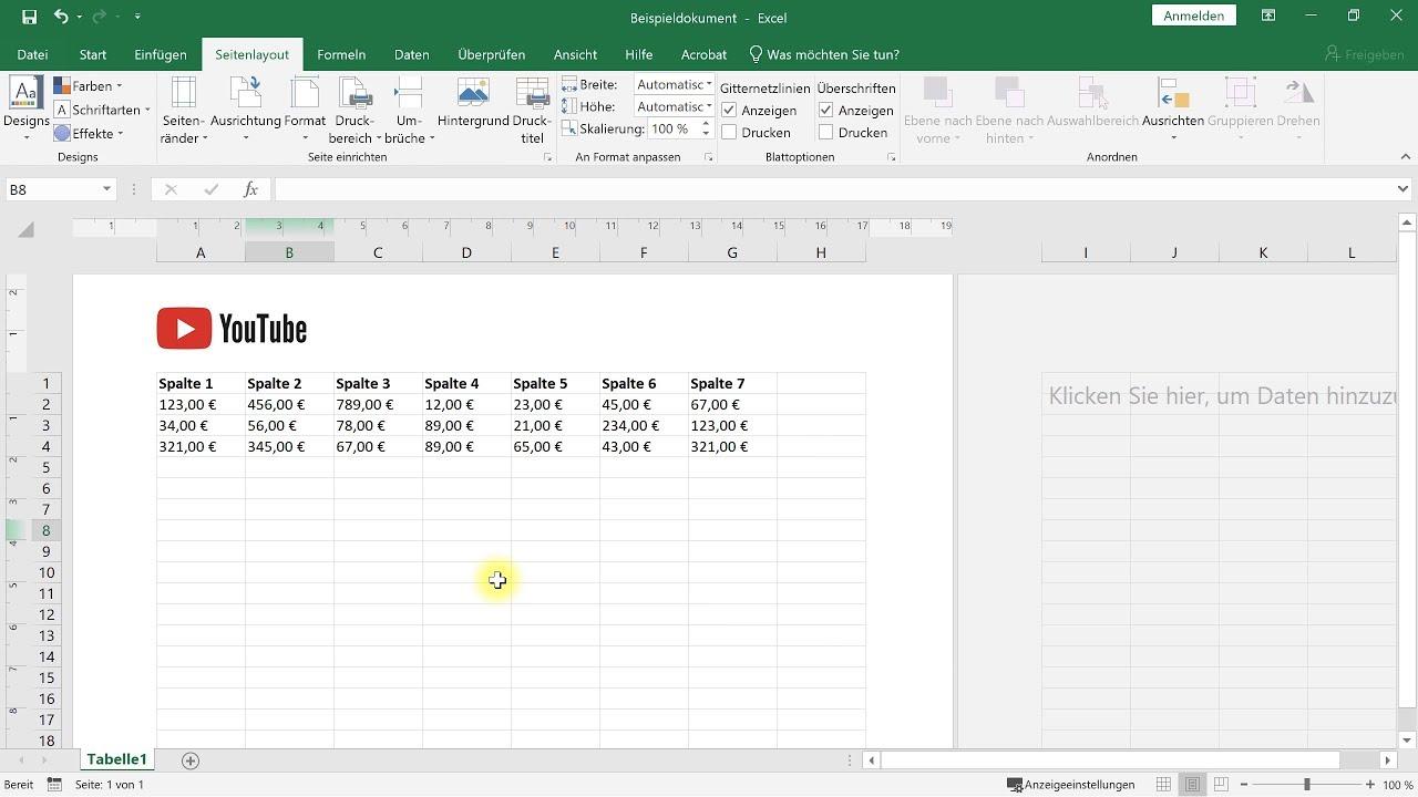 Excel 2010 hintergrund drucken