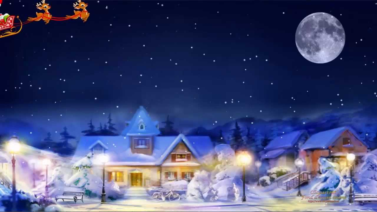 Fond Cran Anim Screensaver Noel Toil 2013 YouTube
