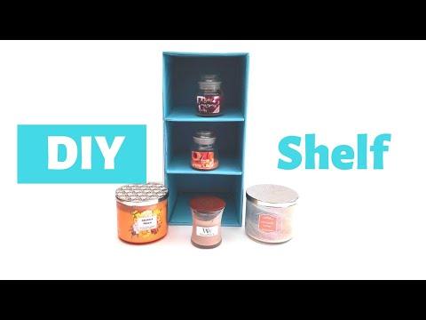 DIY Shelf Organizer From Cardboard