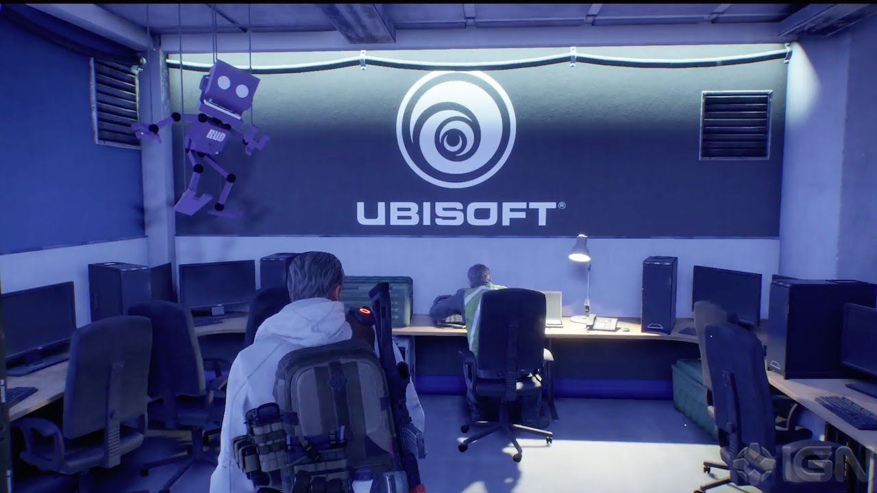 The Ubisoft Office in The Division Has a Ton of Easter Eggs - YouTube