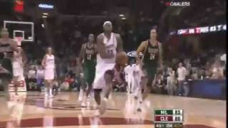 Lebron James FREE THROW LINE DUNK (In Game, High Quality)