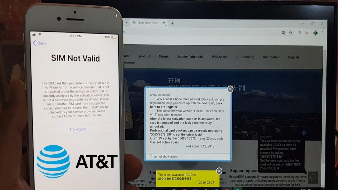 How to Unlock a iPhone ☑ Network & Carrier Unlock From USA AT&T