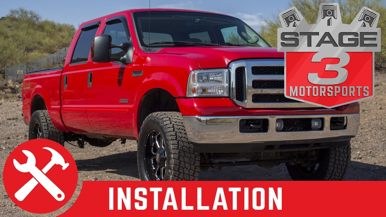 2005 2010 super duty f 250 f 350 4wd readylift 2 5 coil spring leveling kit with fox shocks install [ 1280 x 720 Pixel ]