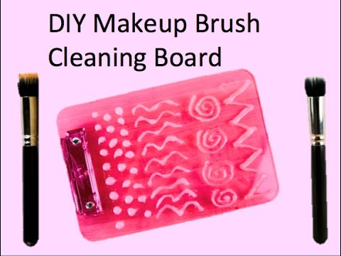 DIY Makeup Brush Cleaning Board - YouTube