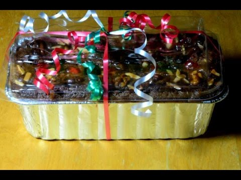 how to wrap a fruit cake for holiday gift youtube