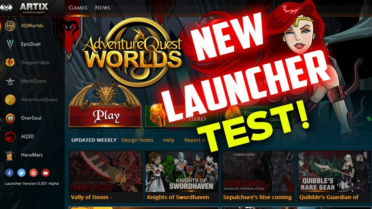 TESTING AQW ON THE NEW AE GAME LAUNCHER! LAG?