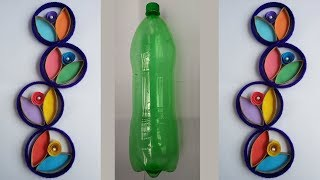 DIY: Plastic Bottle Crafts!!! How to Make Beautiful Wall Hanging With Waste  Plastic Bottle!!!